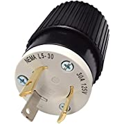 Reliance Generator Locking Plug - 30 Amps, 125 Volts, L5-30 Male, Model# L530P