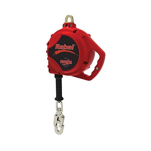 Protecta 3590550 Rebel 50-Feet Self Retracting Lifeline with Carabiner And Self Locking Swivel Snap Hook, Red (Self Locking Snap Hooks)