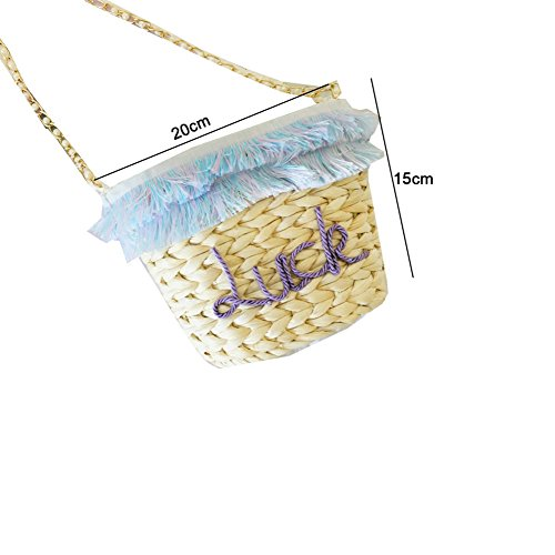 Sweet Tassels Packs Straw Slung Letters Summer Back Bag Beach Holiday GAOQQ Bag w6OIq1B