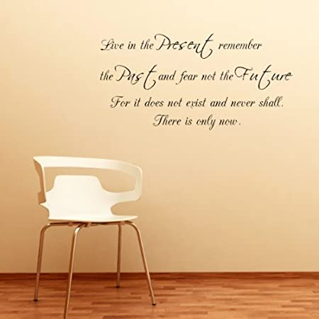 Past Present Future Small Quote Wall Sticker Wall Lettering