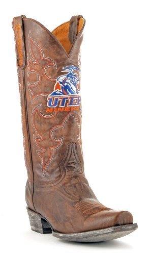 Paso Room Brass Miners El NCAA Board Texas Boots Style Men's q4YFE