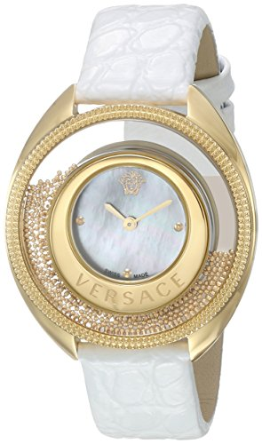 Versace-Womens-DESTINY-SPIRIT-Small-Swiss-Quartz-Stainless-Steel-and-Leather-Casual-Watch-ColorWhite-Model-VAR050016