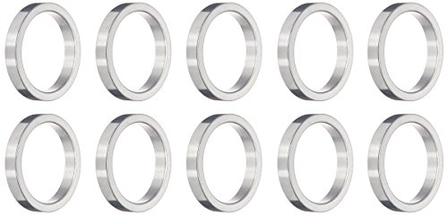 Wheels Manufacturing 1-Inch Spacer (Silver/5mm, Bag of 10)