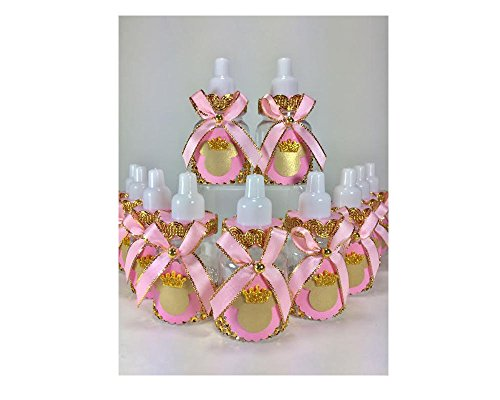 (12 Pink and Gold Little Princess Minnie Mouse Baby Shower Favor)