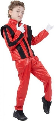 80s Michael Jackson Thriller Childs Fancy Dress Costume - L (Thriller Costume Uk)