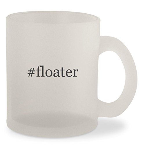 #floater - Hashtag Frosted 10oz Glass Coffee Cup Mug (Pellets Floater)