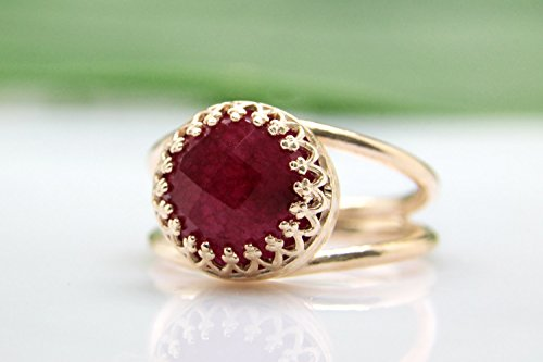 vintage ruby engagement rings - 4