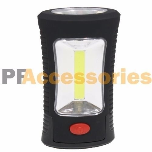 (Portable 400 Lumen COB LED Flashlight Magnetic Hook Clip Work Light Camping)
