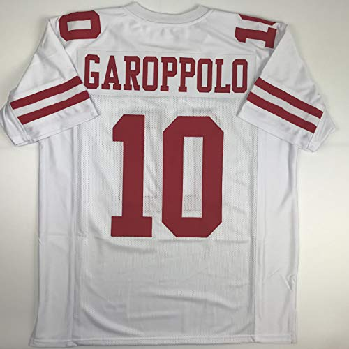 Unsigned Jimmy Garoppolo San Francisco White Custom Stitched Football Jersey  Size Men s XL New ... San Francisco 49ers Authentic Jerseys 5d2ff8357