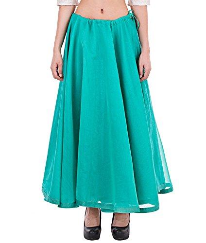 Cotton Block dark Long Women's Pink Hand Skirt freesize Printed dwqYqCEIx