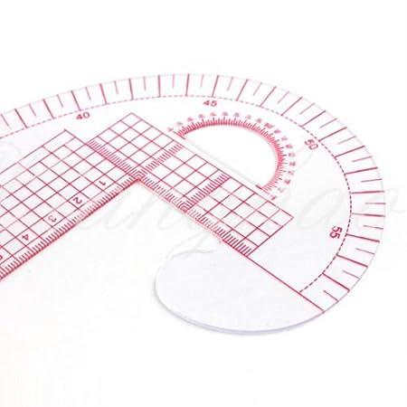 2 PCS 3 in 1 Kunststoff Französisch Curve Metrisches Nähen Lineal ...
