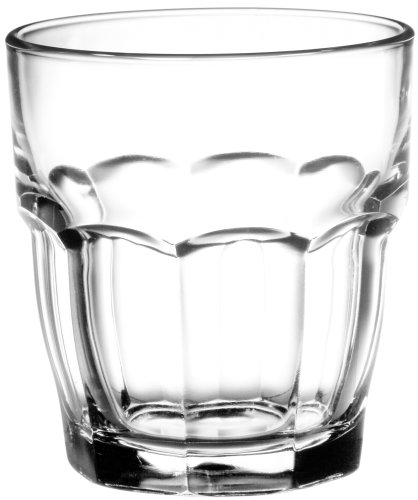 Bormioli Rocco Rock Bar Stackable Rocks Glasses, Set of 6, 9 oz.
