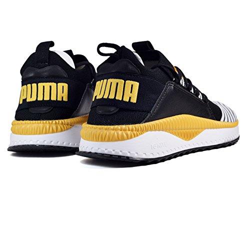 Puma Tsugi Jun Sneaker Uomo 365489 10 Black White Mineral Yellow