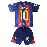 Kids FC Barcelona Messi 10 Jersey/Shorts Football Soccer (DriFit)