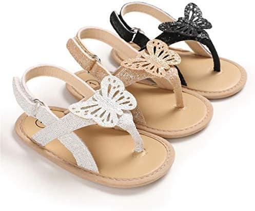 COSANKIM Infant Baby Girls Summer Sandals With Flower Soft Sole Newborn Toddler First Walker Crib Dress Shoes
