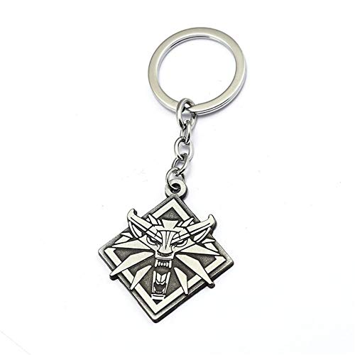 Value-Smart-Toys - Game The Witcher 3 Wolf Head Matel Keychain The Wild Hunt Key Chain Ring Boy Men Gift Jewelry Souvenir Chaveiro Sleutelhanger