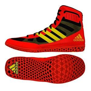 953cf85bc35291 Adidas Mat Wizard 3 Junior Wrestling Shoes - Red/Yellow/Black - 5.5