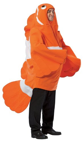 Clown Fish Adult Costumes (Clownfish Costume - One Size - Chest Size 48-52)