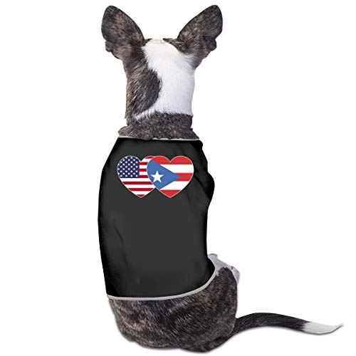 COLLJL8 Puerto RICO USA Flag Twin Heart Pet