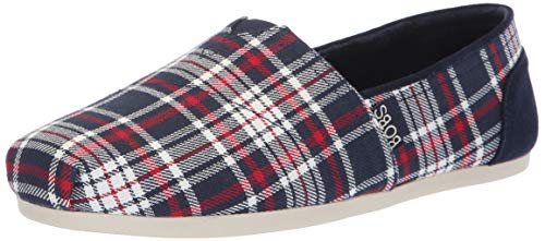 - BOBS from Skechers Women's bobs Plush - Plaid Dash. Plaid slip on w memory foam sockbed Shoe, nvrd, 11 M US