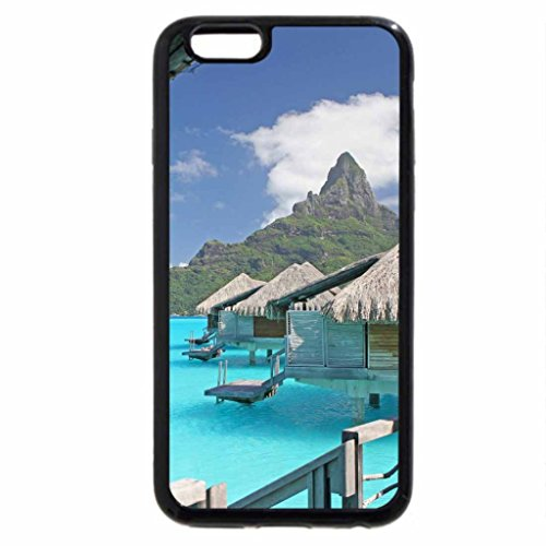 iPhone 6S / iPhone 6 Case (Black) View out of Water Villa Bungalow over clear blue lagoon on Paradise Island Bora Bora near T