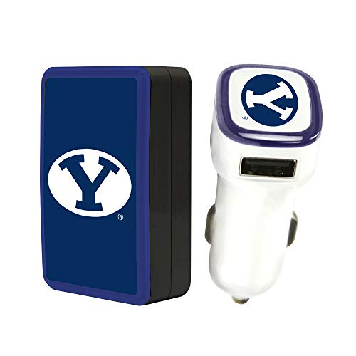 Quickvolt BYU Cougars Wall Charger/Car Charger Pack
