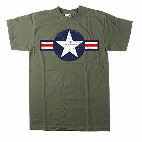 Hotrod Tshirt mit Oldschool Air Force Us Army Stern Tolles Geschenk für Jeep Fans Vintage Olive