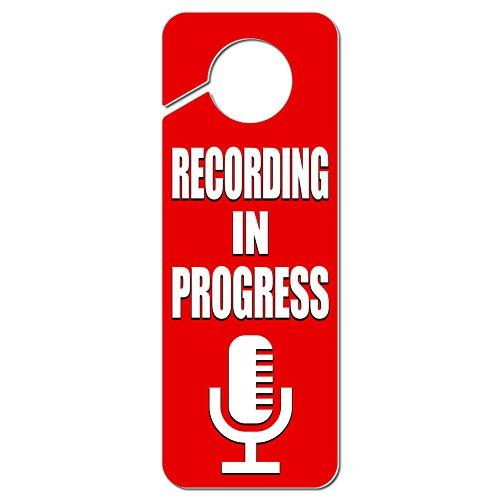 recording-in-progress-microphone-plastic-door-knob-hanger-sign