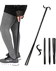 """Shoehorns Long Handle, Handicap Helper (Upgrade 33.5"""") - Dressing Stick Buddy, and Sock Remover Tool, Adjustable Extended, Premium Plastic, for Seniors, Disabled, Knee Replacements and Back Problems by Fanwer"""