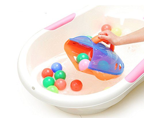 Otulet ® Baby Bath Toy Scoop and Drain Organizer with Handle Bath Toy Storage Organizer For Kids Toddlers Baby Boys and Girls