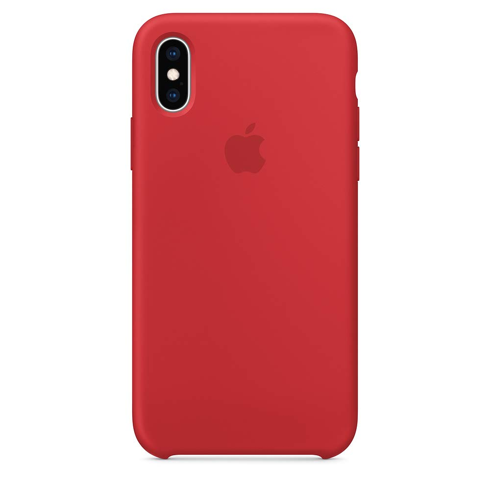 Dawsofl Soft Silicone Case Cover for Apple iPhone Xs Max 2018 (6.5inch) Boxed- Retail Packaging (Red)