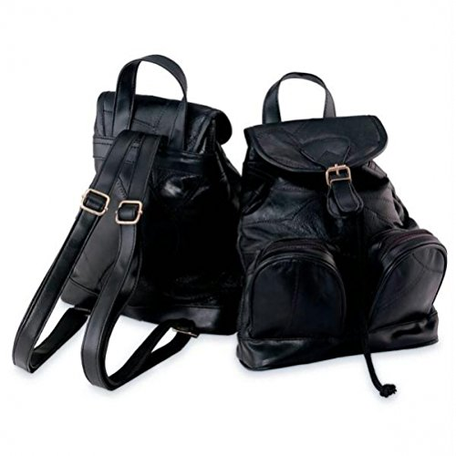 Italian Mosaic Design Genuine Lambskin Leather Backpack/Purse