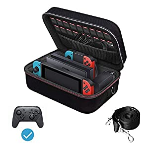 iVoler Carrying Storage Case for Nintendo Switch/Switch OLED Model (2021), Portable Travel All Protective Hard Messenger…