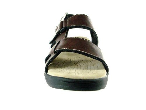 Mens JF2-38 Casual Comfortable Adjustable Sandals Coffee KCgEyrvgu