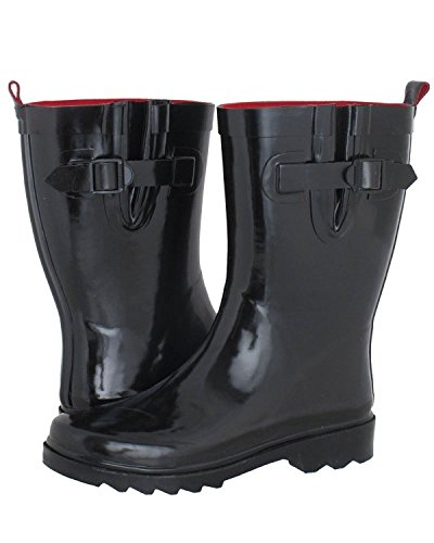 Capelli Short Rain Boots - Solid Black 6, Black