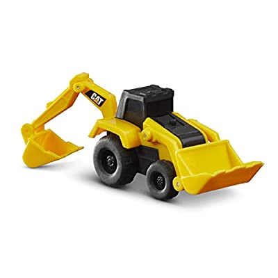 Cat Construction Little Machine Construction Truck Toy Cars Set of 5, Dump Truck, Bulldozer, Wheel Loader, Excavator and Backhoe Free-Wheeling Vehicles w/Moving Parts -Great Cake Toppers: Toys & Games