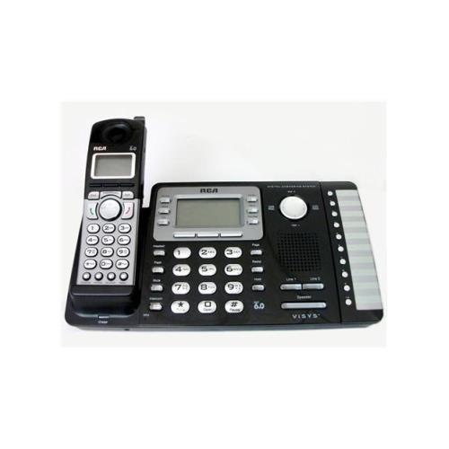 RCA 25252 ViSYS Cordless Expandable Phone/Ans System, 2 Lines, 1 Handset
