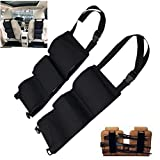 The latest seat back gun holder - with a pocket sling storage machine for rifle hunting - hunting gun storage rack shelf accessories for hunting shotgun in car truck SUV 1 pair