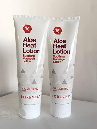 (Forever Living Aloe Heat Lotion 118ml-(Pack of 2))