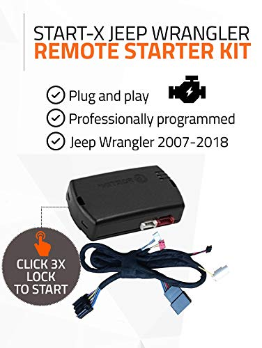 (Start-X Remote Starter Kit for Jeep Wrangler Key Start 2007-2018 || Plug & Play || 3X Lock to Remote Start || 10 Minute Install)