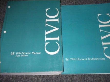 1994 Honda Civic Service Shop Repair Manual Set New W Wiring Diagram Ewd Evtm 94 Honda Amazon Com Books