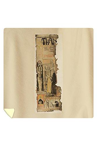 Thais Vintage Poster (artist: Orazi) France c. 1894 (88x88 Queen Microfiber Duvet Cover) by Lantern Press