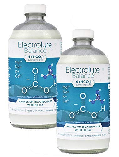 Electrolyte Supplement by LivePristine - Electrolyte Supplement with Magnesium Bicarbonate and Silica - for replenishing Critical nutrients and Calcium Assimilation - 1 Month Supply (2 Bottles)