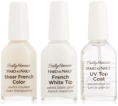 Sally Hansen Hard As Nails French Manicure Set - Sheer Romance, 3 ct (Best French Manicure Set)