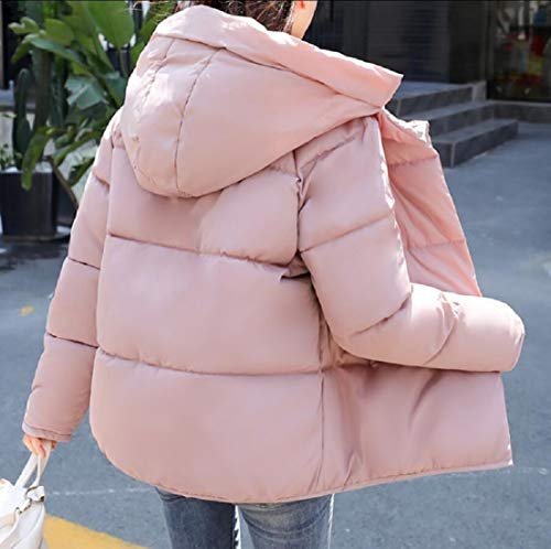 Coat Winter Quilted Outerwear Padded Pink Women EKU Hooded Puffer Jacket Parka Jacket Thick UPq8pna