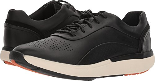 CLARKS Women's Un Cruise Lace Black Leather 11 B US by CLARKS