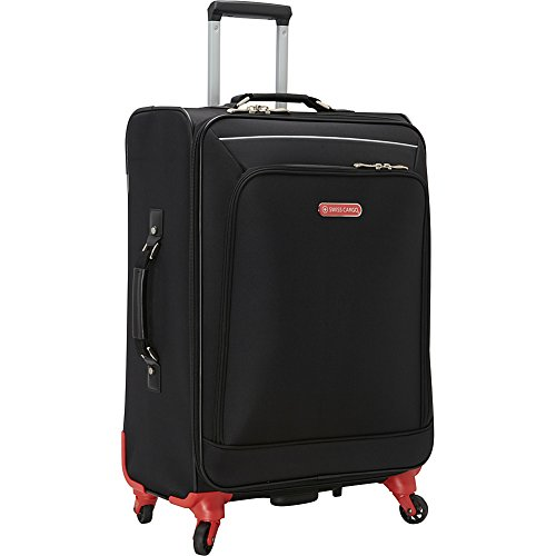 swiss-cargo-petra-24-spinner-luggage-black-silver