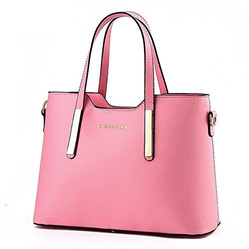 QCKJ-Lorenz-Borsa a tracolla in poliuretano di alta qualità colore rosa