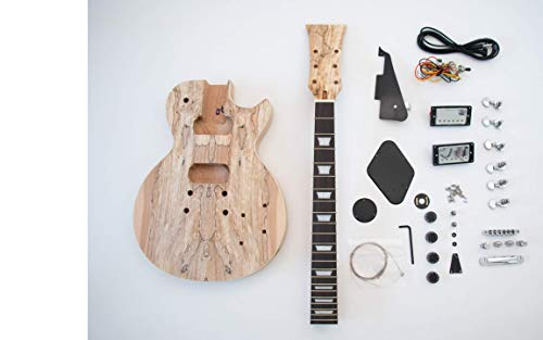 Spalted Maple LP Guitar – DIY Build Your Own Guitar Kit
