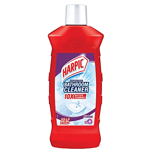 Harpic Disinfectant Bathroom Cleaner Liquid, Floral – 1 L | With Sodium Hypochlorite 0.5% w/w Min.